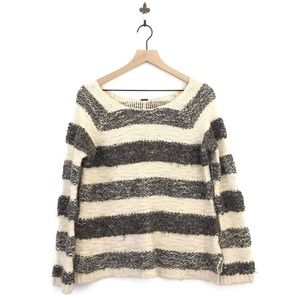 Free People Chunky Knit Striped Sweater Medium